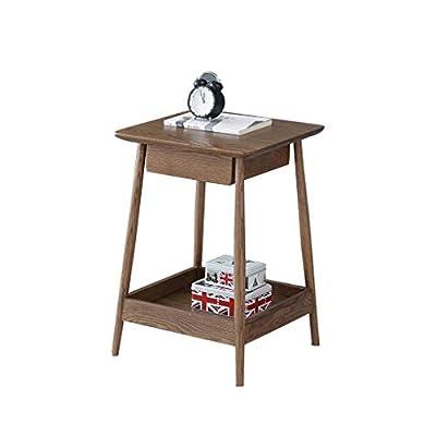 Materiales de alta calidad:esta mesa auxiliar,hecha de roble natural de alta calidad,es estable,duradera,no tóxica,respetuosa con el medio ambiente,más resistente que los soportes de plástico,y el roble hace que su escritorio se vea genial. Diseño fá...