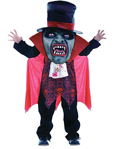 DIGITAL SPOT Disfraz de vampiro de miedo para niños, disfraz de despedida de soltero de Halloween, tamaño mediano de 7 a 9 años