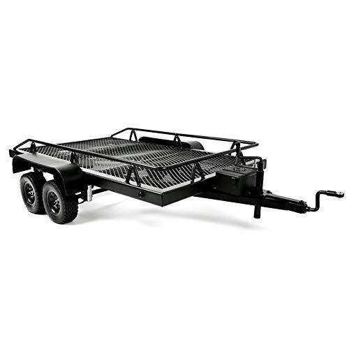 Cocosity Remolque de Metal, Accesorios RC Ensamblaje RC de Dos Ejes, para camión RC Outdoor TRX4 / Axial Scx10 Traxxas