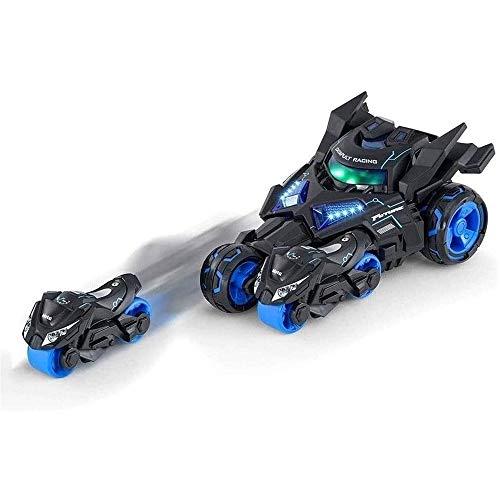 VanFty Tira del coche Liga de la Justicia Catapulta Catapulta Chariot Racing 1/24 tira de la aleación modelo de simulación de coche del niño con música ligera modelo fresco, las muchachas del muchacho