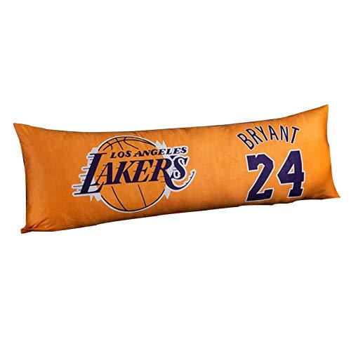 CHIAE Bryant #24 Lakers - Almohada de baloncesto para mesita de noche, cojín largo para sofá, almohada simple y moderna, 150 x 50 cm
