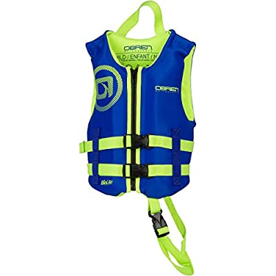 O'Brien Child Neoprene Life Jacket, 35-55lbs, Blue/Green