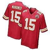 NFL 10# 15# 87# Trikot Kansas City Chiefs Team Trikot Fan Edition Stickerei T-Shirt Sport Kurzarm-Top-7-L