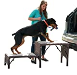 Pet Gear Free Standing Ramp for Cats and Dogs. Great for SUV's or use Next to your Bed. 4 Models to Choose from, Supports 200-300 lbs, Lightweight Easy-Fold Design, Carpeted - Up to 350 pounds