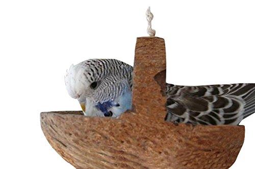 Tolle Kokos Schaukel für Wellensittich & Nymphensittich für den Vogelkäfig oder Voliere | Einzigste Vogelschaukel zum Liegen | Wellensittich Zubehör