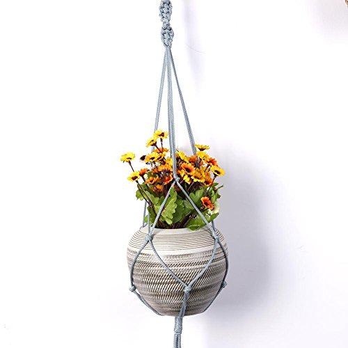 Wartoon 3PCS Panier Pot de Cintre Int/érieur ou Ext/érieur /à Suspendre Panier de Fleurs /à Suspendre D/écoration Murale 4 Pieds 100 cm