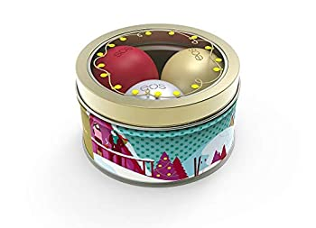 EOS Limited Edition Holiday 2018 Lip Balm Set of 3 - First Snow Fireside Chai Pomegranate Raspberry