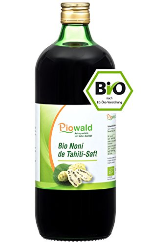 BIO Noni de Tahiti Saft - 1 Liter | 100% Direktsaft ohne Zusätze | Vegan und Laktosefrei
