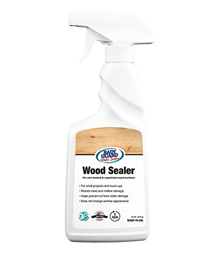 Rain Guard Water Sealers SP-8006 Ready to Use 16 oz Spray Bottle Premium Wood Sealer, Water Repellent Protection for Wood Surfaces, Clear Invisible