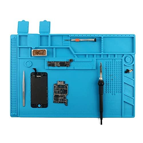 HJTYQS Estación de reparación de Silicona térmica de Aislamiento Suave de la Almohadilla de Soldadura, estación de reparación de componentes eléctricos 12.5 * 18.8 Pulgadas