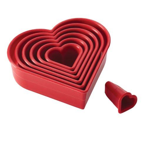 Cake Boss Lot de 7 emporte-pièces en Forme de cœur