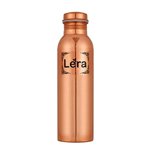 Lera 1000Ml Pure Copper Water Bottles Is Leak Proof & Joint Free For Ayurvedic Health Benefits (Tamara Jal) By Lera (Available In Combo Of 2, 3 &4) (1 Bottle)