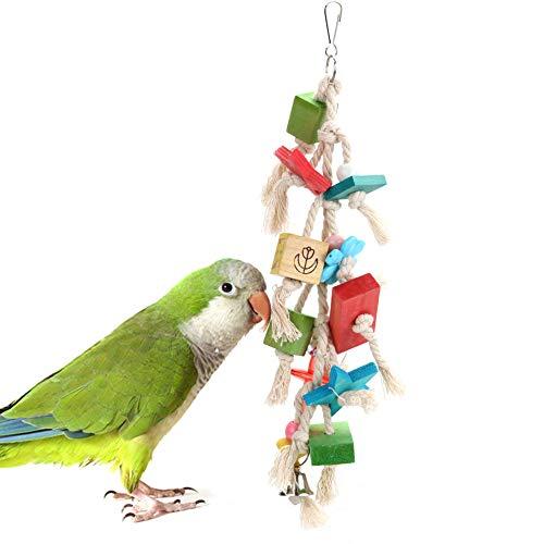 Papegaai Speelgoed Vogel Speelgoed, Gekleurde Houten Blok Vogel Speelgoed, Papegaai Bijt Speelgoed, Klimmen Speelgoed