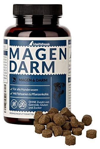 Schnüffelfreunde Magen Darm für Hunde I Unterstützt die Darmflora und natürliche Darmregulierung beim Hund - mit Flohsamenschalen, Pflanzenkohle und Moorextrakt