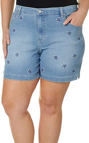 Gloria Vanderbilt Women's Plus Size Amanda Basic Jean Short, Blue, 22W