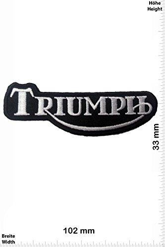 Patch - Triumph - schwarz/silber - Auto - Motorrad - Motorcycle- Motorsport - Racing Car Team - Classic - Patches - Aufnäher Embleme Bügelbild Aufbügler