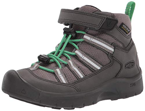 KEEN Hikeport 2 Sport Mid Height Waterproof Hiking Boot, Black/Irish Green, 9 US Unisex Little Kid