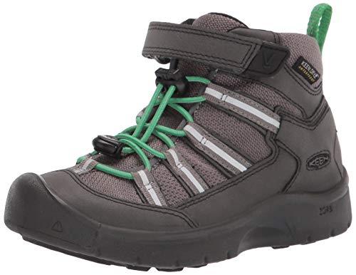 KEEN unisex child Hikeport 2 Sport Mid Height Waterproof Hiking Boot, Black/Irish Green, 11 Little Kid US