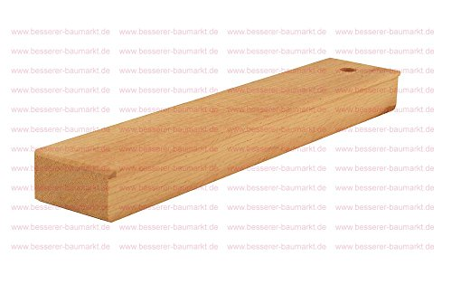 Schlagholz aus Hartholz mit glatter Oberfläche Größe 30 x 5 cm