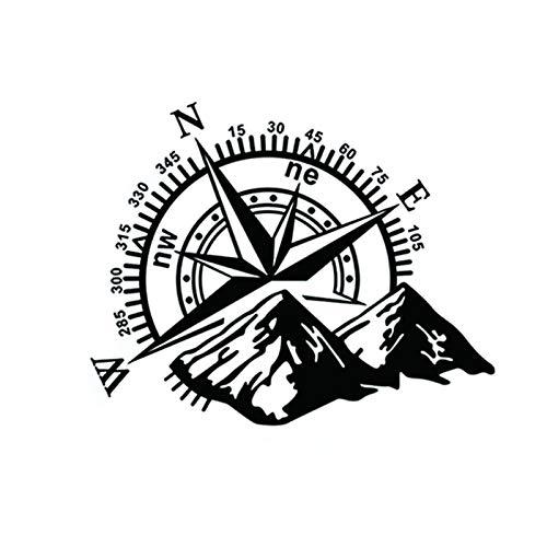 YJYQ 1PCS Pegatina, Pegatina De Coche Brújula Rosa Navegar Montaña 4x4 Offroad Vinilo Pegatina Calcomanía Coche,60x50 Cm(Negro,Blanco,Rojo)