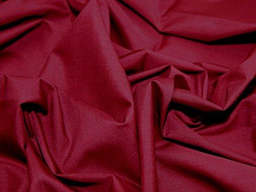 1 mètre/vin Bordeaux uni en polycoton Tissu en coton polyester Pas au Royaume-Uni