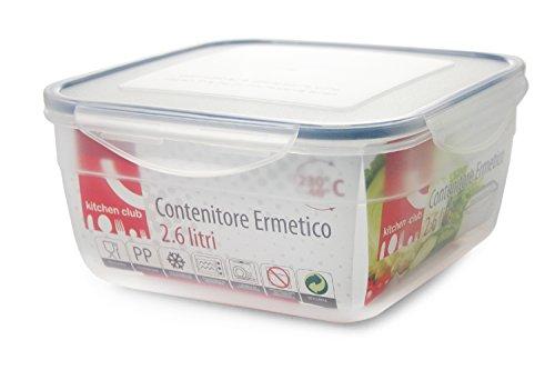 Galileo Casa die Küche Frischhaltedose, quadratisch, Kunststoff, transparent, 21cm