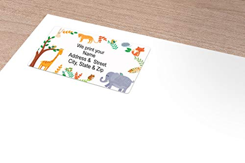 Animals Address Label - Customized Return Address Label - 90 Kids Labels Photo #3