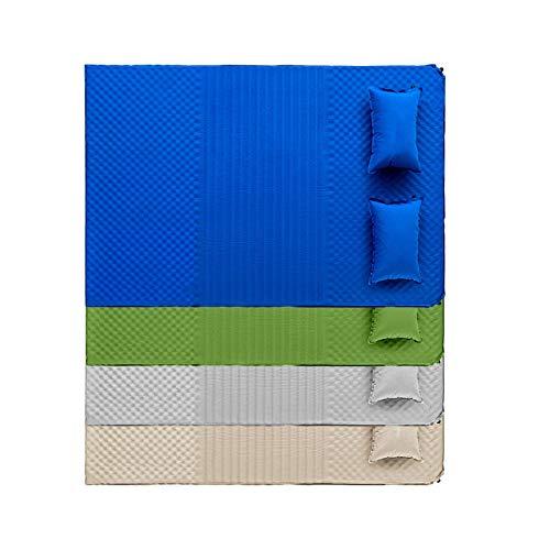 Doble auto inflable cama colchón tres secciones confort diseño verde