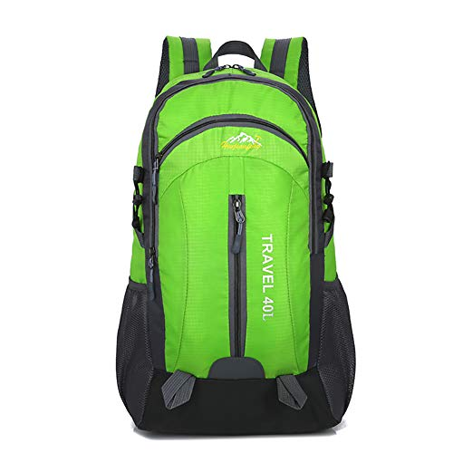 HWJIANFENG Hiking Backpack 40l Large Capacity Men and Women Waterproof Hiking Backpack USB Charging Interface Design Hiking Camping Travel Yoga,Green