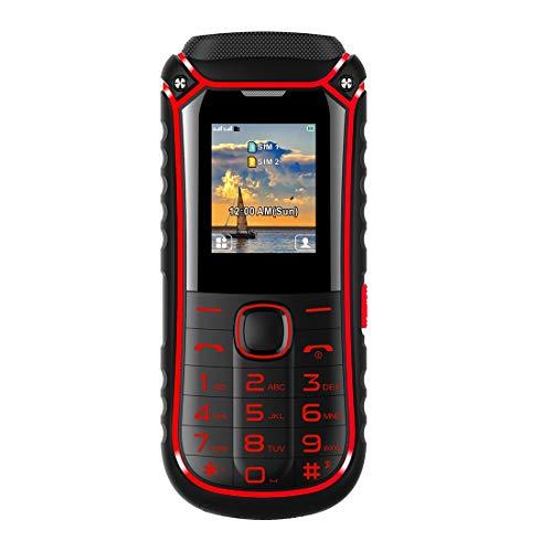 IKALL K34 3000 mAh Powerbank Phone with Big Torch Black and