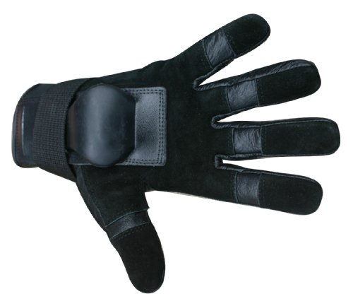 Hillbilly Wrist Guard Gloves - Full Finger (Black, Large)
