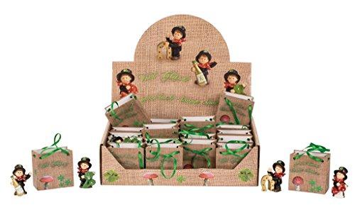 24 Figuren Schornsteinfeger Glücksbringer im Display Glücksfigur je Geschenktüte
