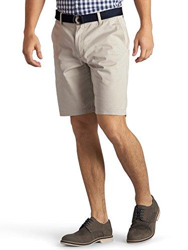 Lee Men's Walker Flat Front Short, Stone, 33