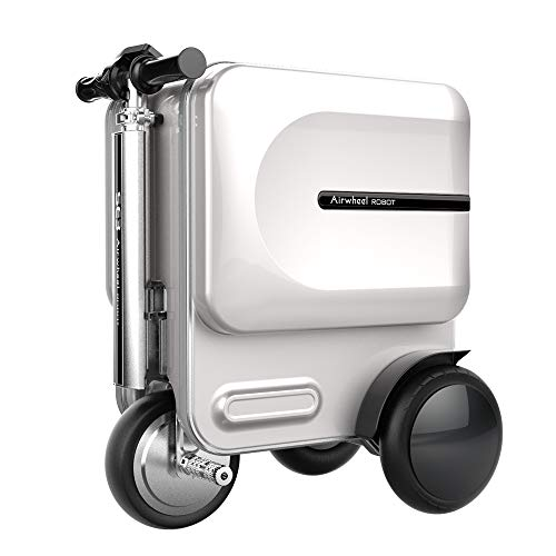 Airwheel SE3 Smart Riding Scooter Suitcase with Hidden Stretchable Rod (Silver)