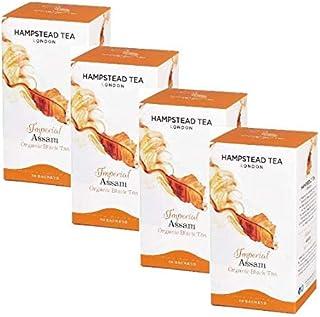 Hampstead Tea London Bio Schwarzer Tee Imperial Assam - 4 x 20 Beutel 160 g