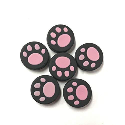 OSTENT 6 capas de silicone para controle de Nintendo Switch Joy-con cor rosa