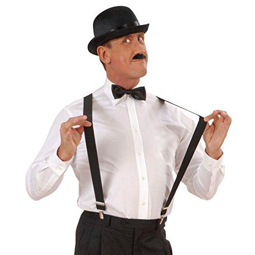 NET TOYS Bretelles Noires Carnaval Bretelles Pantalon Homme Noires Accessoires déguisement Carnaval
