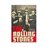 The Rolling Stones Rockband Leinwand-Poster, Wandkunst,