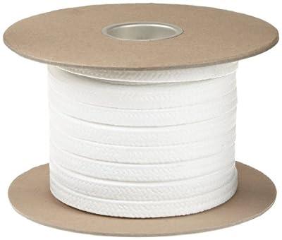 "Palmetto 1367FS Series FDA Compliant PTFE Compression Packing Seal, White, 5/16"" Square, 25' Length"