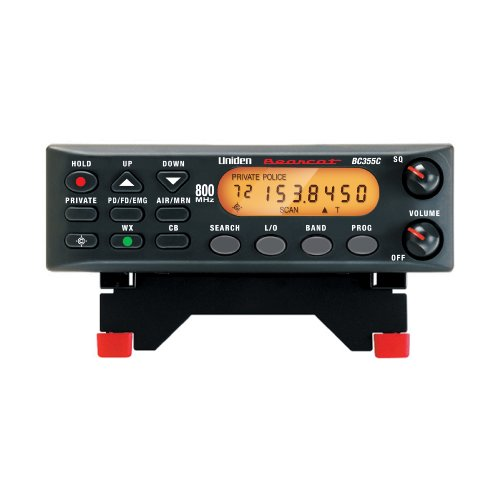 "Uniden BC355N 800 MHz 300-Channel Base/Mobile Scanner, Close Call RF Capture, Pre-programmed Search ""Action"" Bands to Hear Police, Ambulance, Fire, Amateur Radio, Public Utilities, Weather, and More, Black"