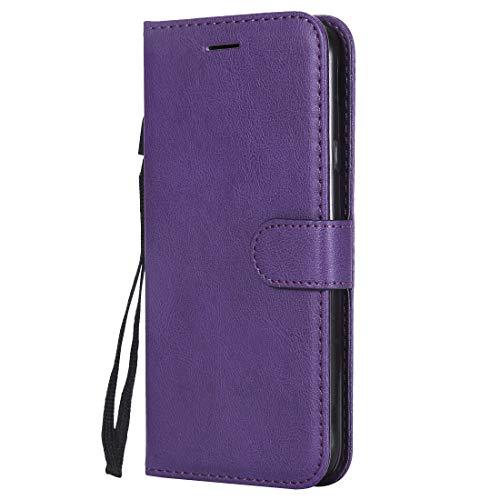 Yiizy handyhülle für Microsoft Lumia 640 LTE Ledertasche, Fashion Stil Lederhülle Brieftasche Schutzhülle für Microsoft Lumia 640 LTE hülle Silikon Cover mit Magnetverschluss Kartenfächer (Violett)