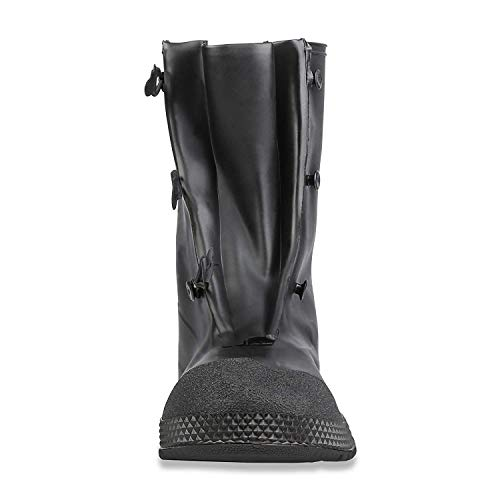 """Servus SuperFit 12"""" PVC Dual-Compound Men's Overboots, Black (11001-Bagged), L (size 11-13 boots)"""