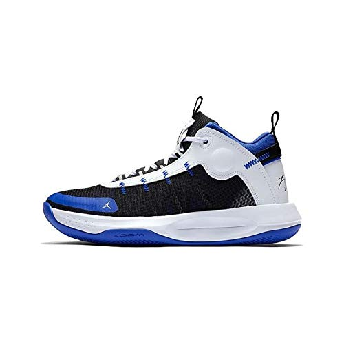 Nike Herren Jordan Jumpman 2020 Leichtathletik-Schuh, Racer Blue/Black-White-Metallic Silver, 42.5 EU