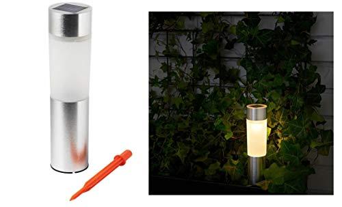 SOLVINDEN Ikea Solarleuchte, LED, Zylinder, aluminiumfarben