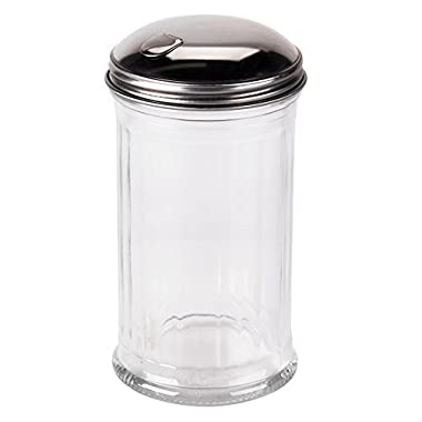 Tzipco's Flip Cap Glass Sugar Dispenser 12 Ounce