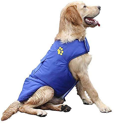 Midiao Invierno Impermeable Perro Chaleco Abrigos Chaquetas de Lana de Perro, Caliente Outwear Reversible de la Pequeña Mediano Grande Gatos Perros - Azul - XXXL (Color : Pink, Size : Xxxxlarge)