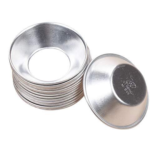 D.ragon - Stampo per Torta, in Lega di Alluminio anodizzato, Set di 10 Utensili da Cucina, 7 4 1,8 cm, Colore: Argento