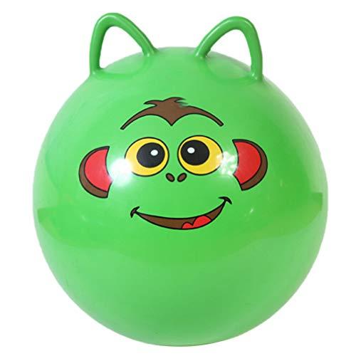 NUOBESTY Kinder Hopper Ball 55Cm Springen Bouncing Ball Aufblasbarer Gymnastikball Outdoor Staffelrennen Fitnesszubehör für Kindergartenkinder (Zufällige Farbe)