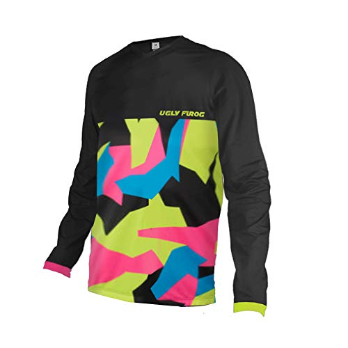 Uglyfrog Invierno Térmico Maillot Ciclismo Hombres Downhill/MX/MTB Jersey Element-Colour Designs Shirt Enduro Quad