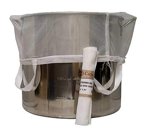 LD Carlson 4718 Brew-in-A-Bag Straining Bag with Handles (24x26)